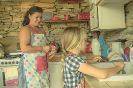 Cooking in a Bulgarian summer kitchen