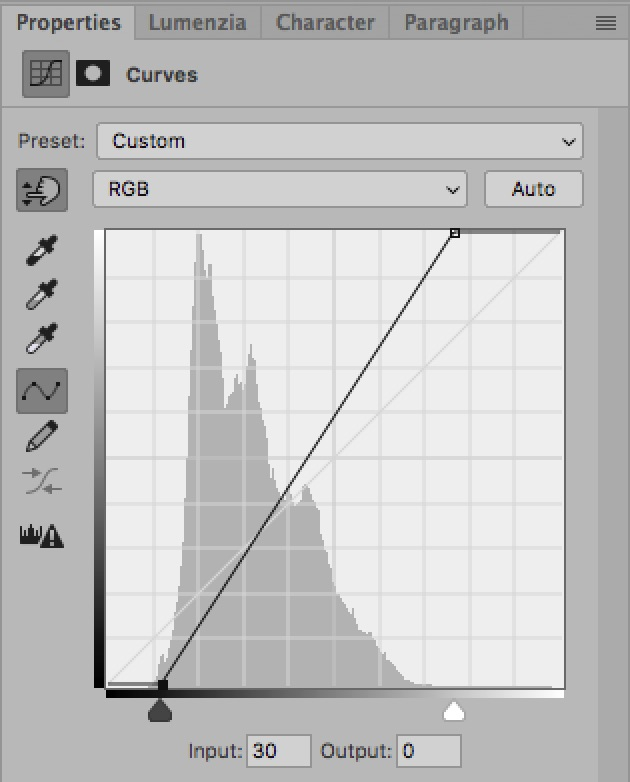 How To Use The Curves Tool: An Introduction / Tools & Techniques, Photoshop [curve white black points]