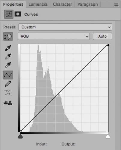 How To Use The Curves Tool: An Introduction / Tools & Techniques, Photoshop [curves palette 403x500]