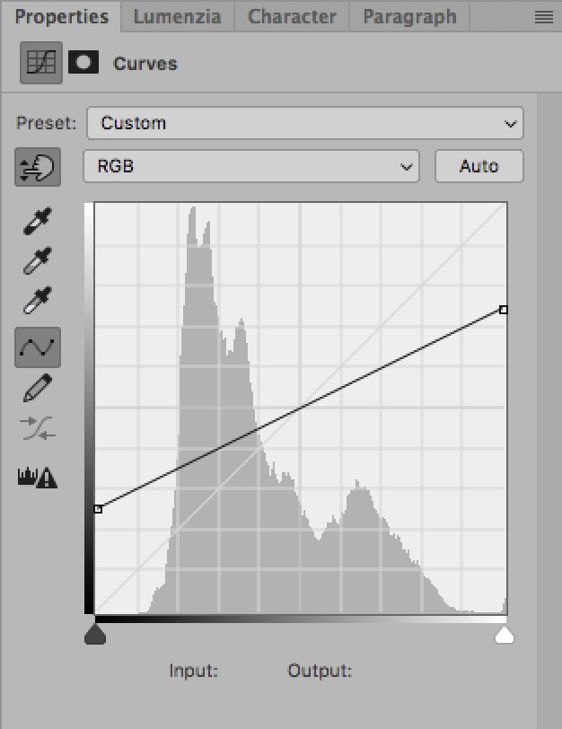 How To Use The Curves Tool: An Introduction / Tools & Techniques, Photoshop [shallow curve]