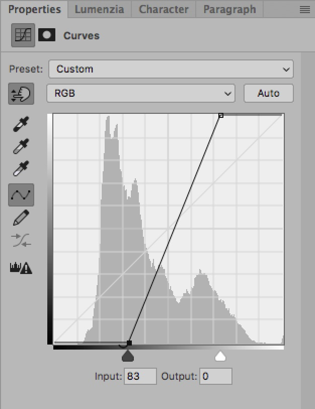 How To Use The Curves Tool: An Introduction / Tools & Techniques, Photoshop [steep curve]