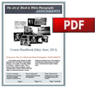The Art of Black & White Photography, Assignments (May, 2018) / Photoshop, Black & White [pdf cover image]
