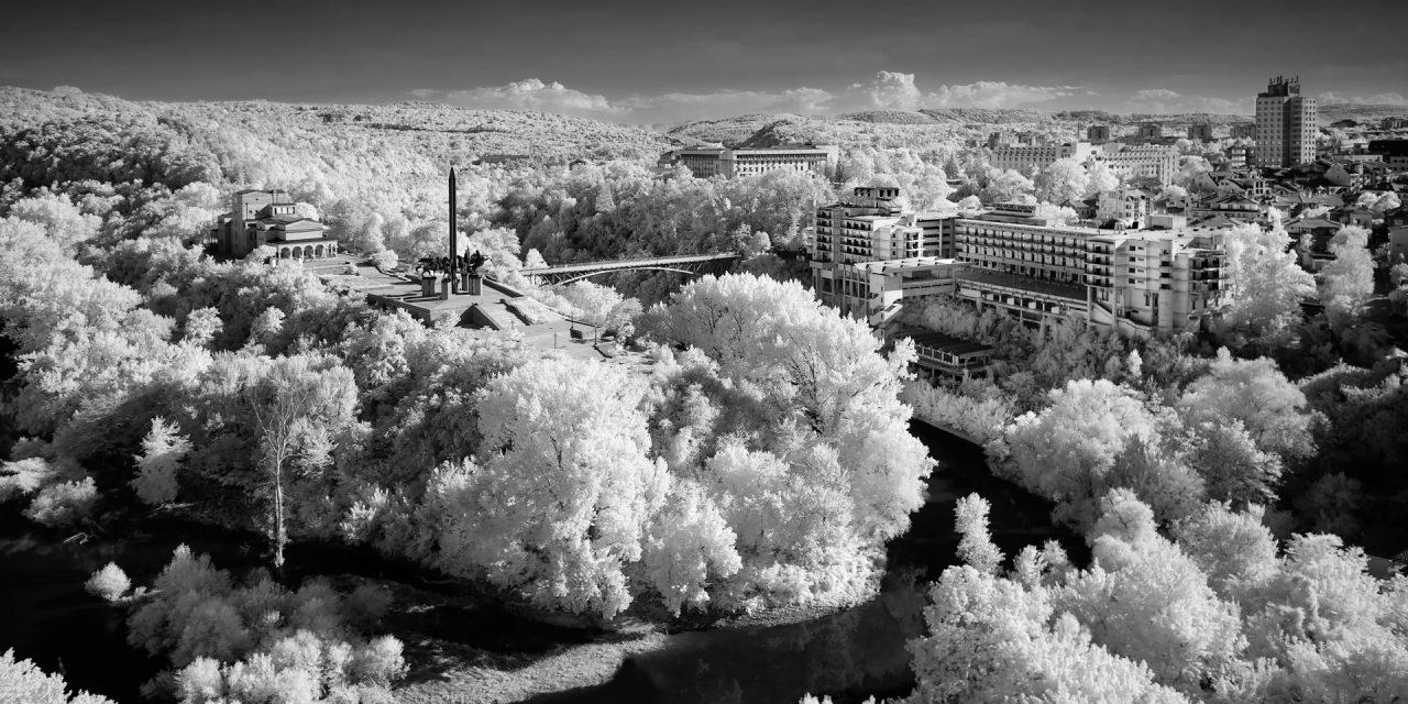 Veliko Turnovo, Bulgaria (IR) / Show the Original, Landscape Photography, Infrared, Fujinon XF 14mm f/2.8, Fujifilm X-E2, Bulgaria [veliko turnovo bulgaria ir f 1280x640]