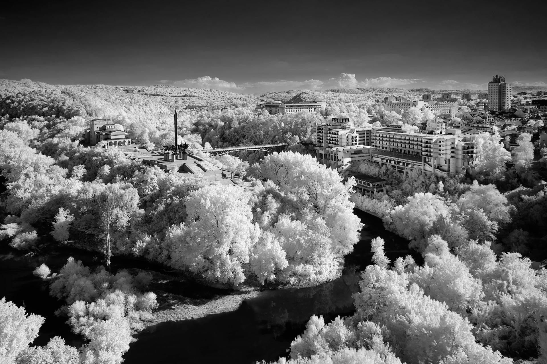 Veliko Turnovo, Bulgaria (IR) / Show the Original, Landscape Photography, Infrared, Fujinon XF 14mm f/2.8, Fujifilm X-E2, Bulgaria [veliko turnovo bulgaria ir f]