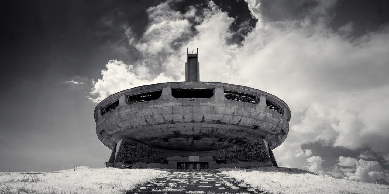 Buzludzha Monument, Bulgaria (IR) (2018) / Show the Original, Landscape Photography, Infrared, Fujinon XF 14mm f/2.8, Fujifilm X-E2, Buzludzha, Bulgaria [buzludzha monument ir 2018 f 1280x640]