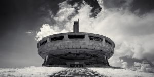 Buzludzha Monument, Bulgaria (IR) (2018) / Show the Original, Landscape Photography, Infrared, Fujinon XF 14mm f/2.8, Fujifilm X-E2, Buzludzha, Bulgaria [buzludzha monument ir 2018 f 300x150]